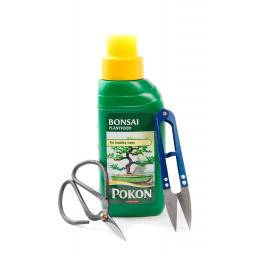 Bonsai food, 250ml + Scissors,+ Shears Set