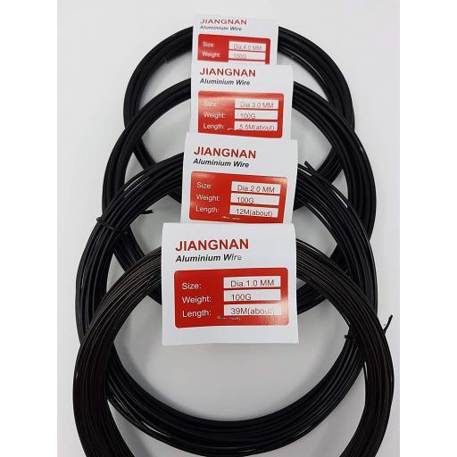 Bonsai wire 4 x 100g (1mm, 2mm, 3mm , 4mm )